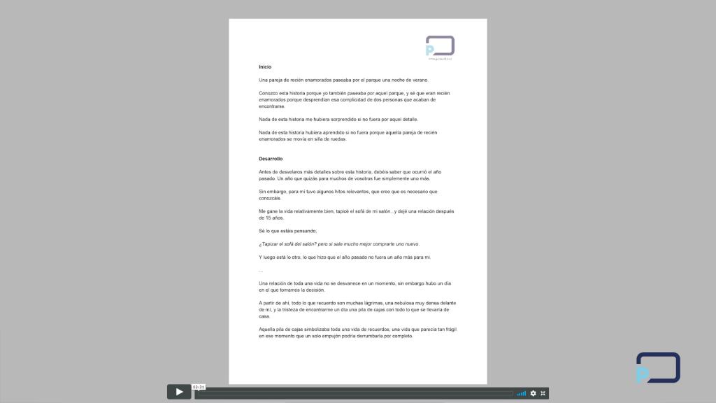 Curso Cómo Crear un Discurso Paso a Paso - 4. Escritura de Guión, Notas o Guión Gráfico