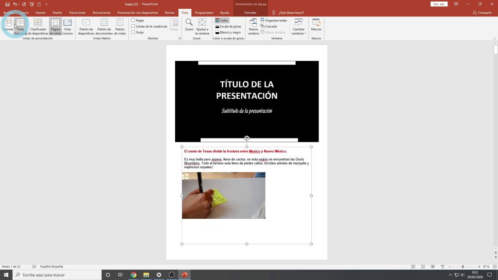 Notas en powerpoint
