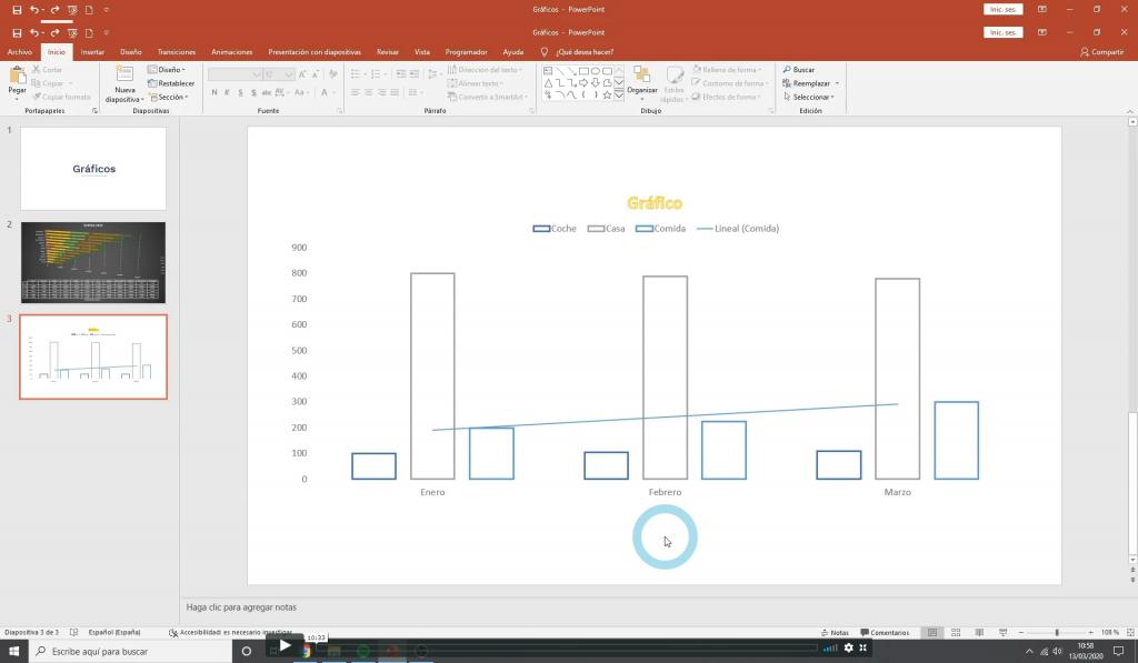 Trabajar con Gráficos en powerpoint