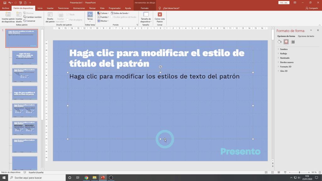 diseno de diapositivas en powerpoint
